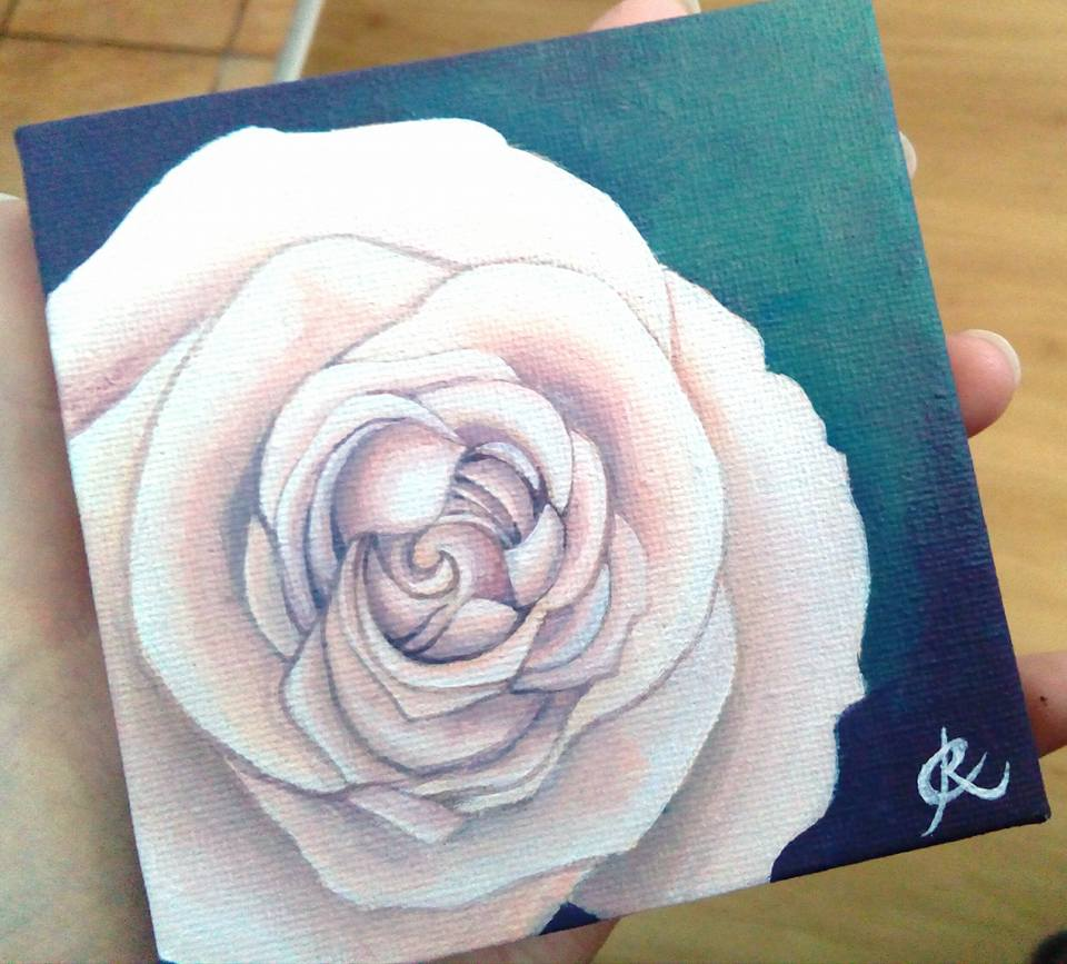 Mini Canvas Rose