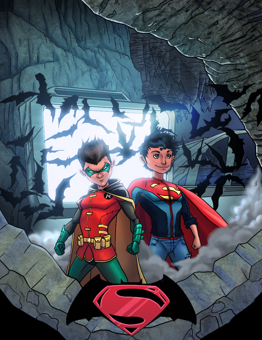 Super Sons Coloured